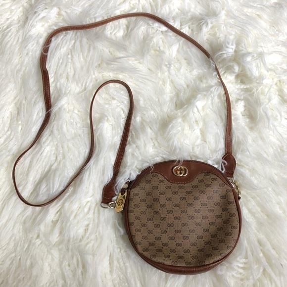 Gucci Handbags - Gucci Vintage Coated Canvas GG Mini Crossbody